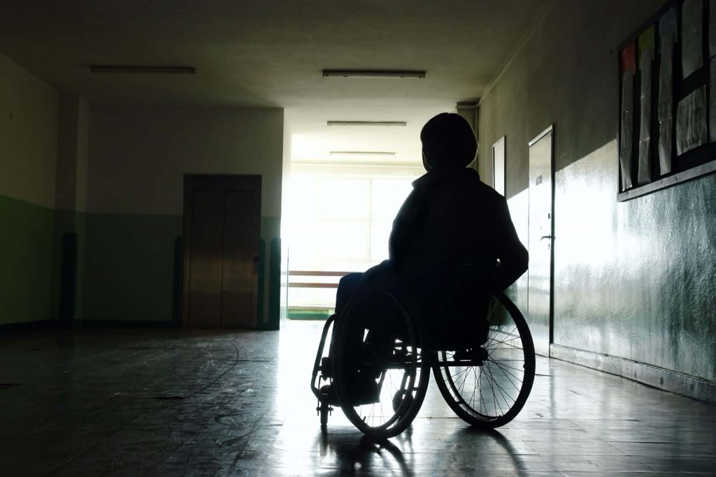 Individual in wheelchair