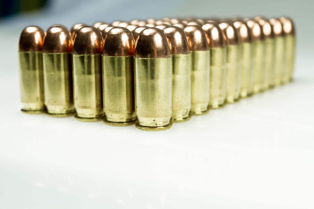 Image of a collection of bullets. Possession of high-capacity magazines may be permitted now that a federal judge has sided with the NRA on California's new gun laws.